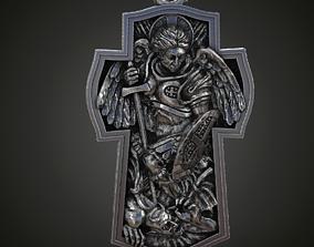 Saint Archangel Michael cross 3D print model