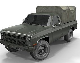 3D model American military truck