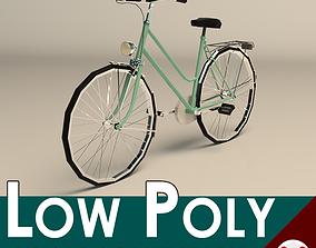 3D model Low Poly Ladies Bike