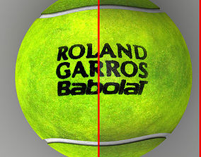 3D model Tennis ball Roland Garros