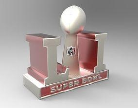 2017 NFL SUPER BOWL TROPHY and ALL 32 3D print model 3