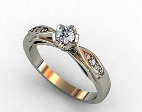 jewelry gold Diamond Ring 3D print model