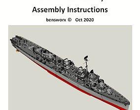 Fletcher Class Destroyer RC Model Ship Instructions