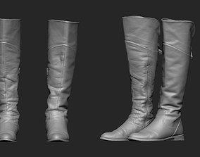 3D printable model High Boots Base Mesh