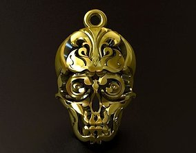 Skull Thai Tattoo Pendant 3D print model