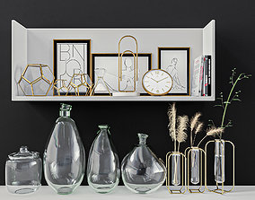 candlestick 3D model decorative set 09