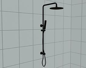 High-quality modern shower head 3D asset