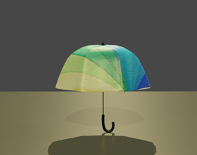 Advanced umbrella rigged for blender 3D model