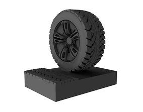 3D printable model TIRE-WHEEL-TREAD