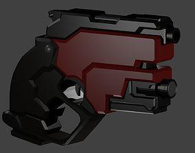 3D asset Tiny sci-fi gun