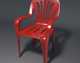 Plastic Chair - 1 - c 3D model