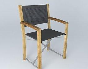 Black armchair CAPRI houses the world 3D