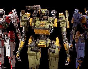 Humanoid Robot 02 Heavy Armor Low-poly 3D VR / AR ready