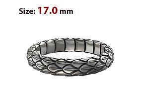 N024 Snake large texture ring 3D printable model