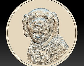 Dog Head Coin - relief - 2020 3D print model
