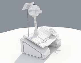 3D asset Low Poly Cartoony Planet Rover
