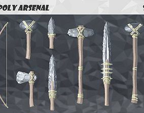 3D model animated Low Poly Arsenal - Stone