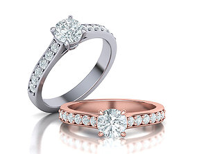 jewelry Engagement ring Classic ring 3dmodel