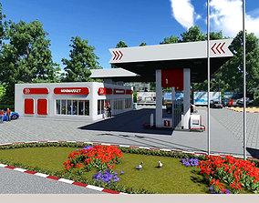 City Gas Station 3D asset