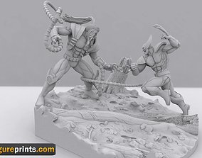 Immortal Conflict Omega red VS Wolverine 3D print model 1