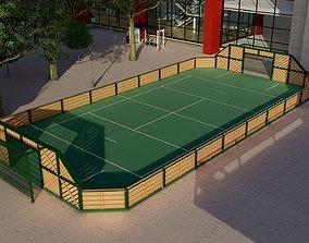 3D model Urban stadium - Street soccer pitch