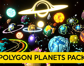 3D asset Polygon Planets Pack