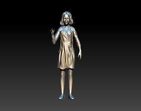 malia obama 3D print model