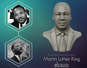 Martin Luther King head sculpture ready to 3D print