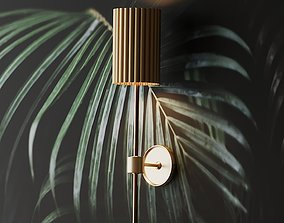 3D FLUTED GOLD WALL SCONCE by CB2 Exclusive