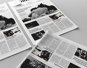 3D model Folded newspaper