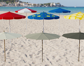 Beach Umbrella 3D asset