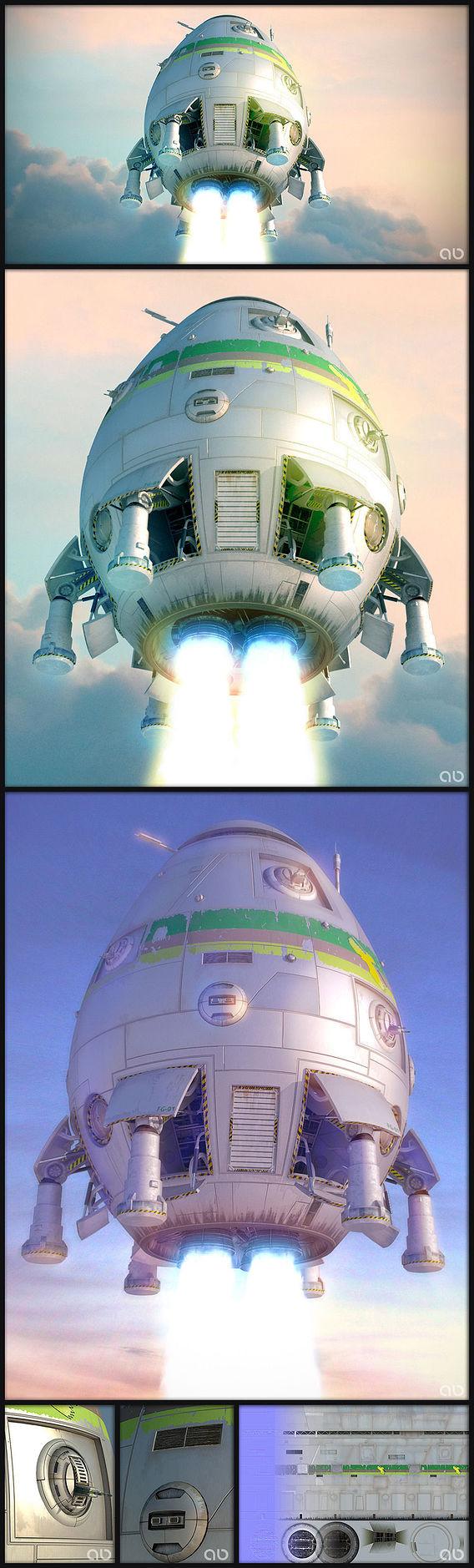 Overlord-class shuttle. Battletech universe.