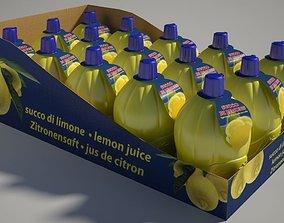 3D Lemon Juice box Mental Ray