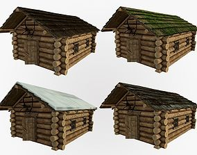 3D model realtime Wooden house