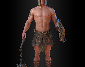 Gladiator 3D asset low-poly PBR