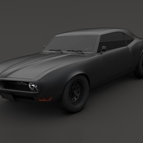 Pontiac Firebird V2 Matte black