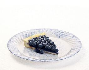 Blueberry Pie Slice 3D model