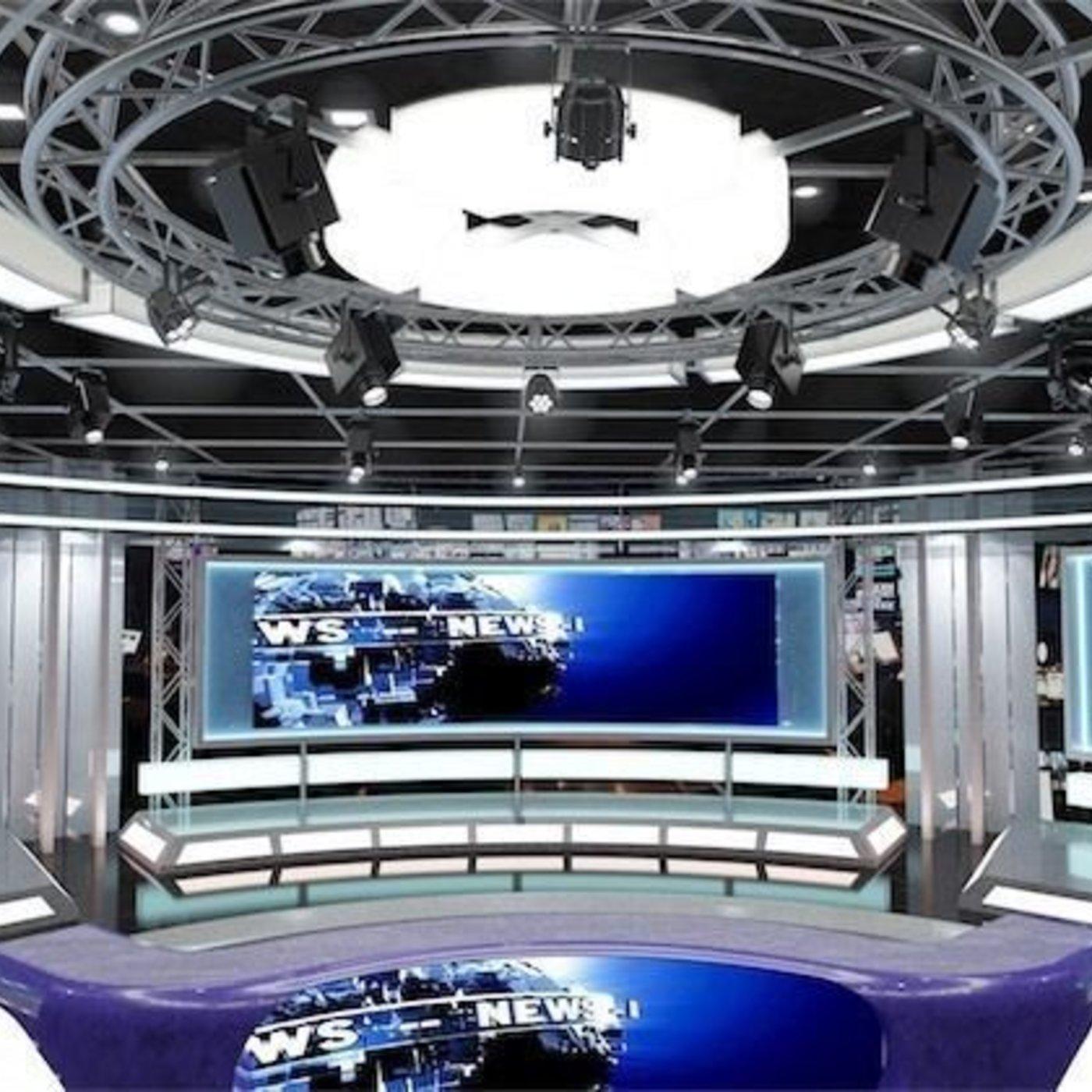 Virtual TV News Set 1