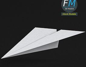 3D asset Paper plane 1