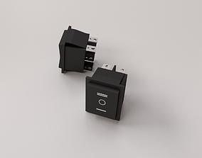 3D model DPDT Rocker Switch