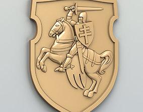 Coat of arms of Belarus Pogonya - type B 3D