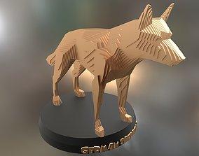 3D asset Parametric German Shepherd Dog