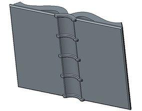 Ancient Open Book 3D print model