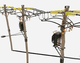 PBR Telegraph Poles 3D asset