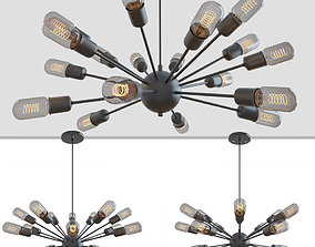3D LOFT INDUSTRIAL SPUTNIK CHANDELIER ELLIPTICAL