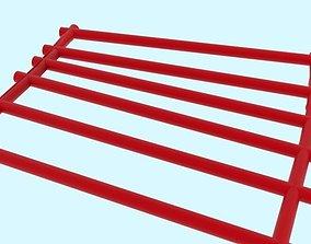Roller coaster tracks 3D asset