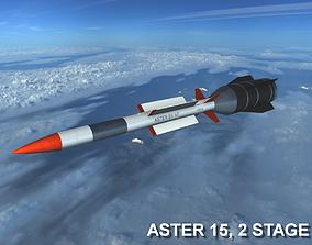 3D asset VR / AR ready Aster 15 Missile