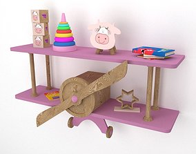 3D model airplane shelf for baby room
