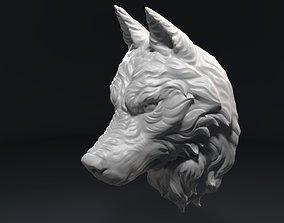 3D printable model Wolf Head Sculpture