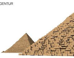 3D Pyramids of Giza